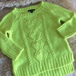 Gap kids neon yellow summer sweater pullover 8G  M
